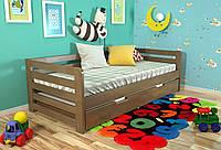 Кровать детская Arbor Drev Немо сосна 80х190, Орех