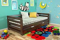 Кровать детская Arbor Drev Немо сосна 90х200, Темный орех