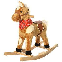 Детская Качалка М 0234 лошадка коричневая