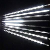 """Светодиодная гирлянда """"Тающие сосульки"""" (Метеоритный дождь) на 192 Led электрическая белая 3,5 м"""