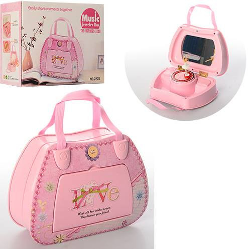 Детская розовая Шкатулка X11368 сумочка