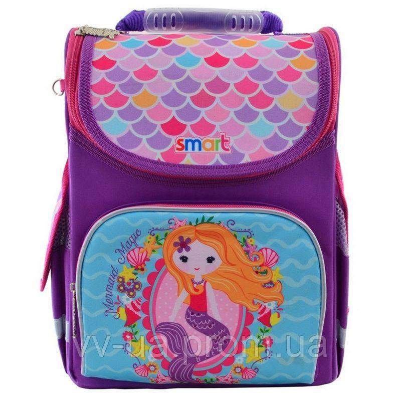 Рюкзак школьный каркасный ортопедический Smart PG-11 Mermaid, для девочек, фиолетовый (555934)