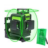 Функциональный уровень лазерный HUEPAR 12 зеленых линий, проекция три линии круговые 360 градусов HP-903CG