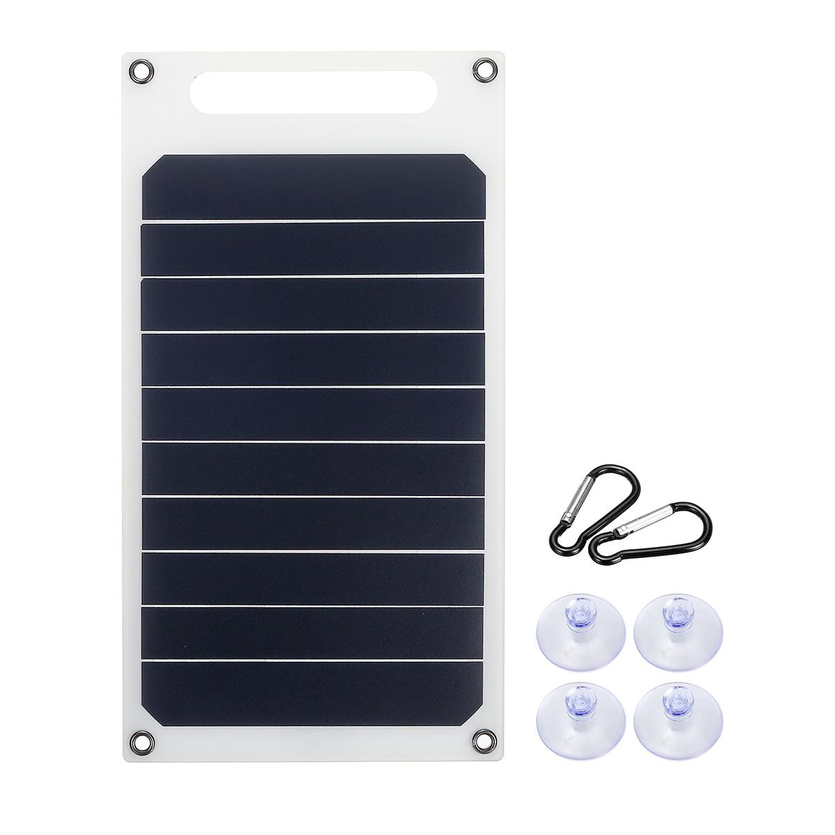 6 В 10 Вт 1.7A Портативный Монокристаллический Солнечная Панель Тонкий и Свет USB Зарядное Устройство Зарядки Power Bank Pad - 1TopShop