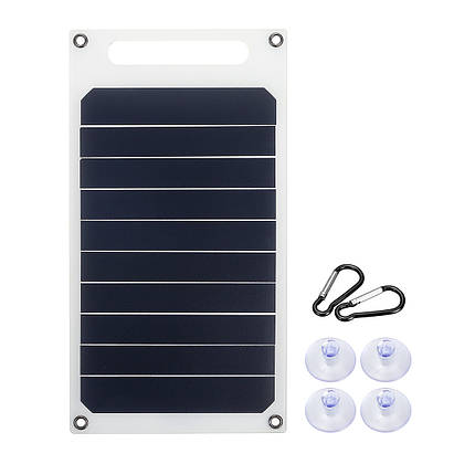 6 В 10 Вт 1.7A Портативный Монокристаллический Солнечная Панель Тонкий и Свет USB Зарядное Устройство Зарядки Power Bank Pad - 1TopShop, фото 2