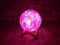 Ночник детский светильник с пультом Луна 13см 16 цветов