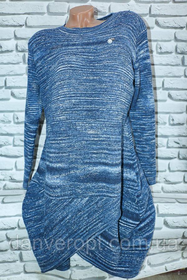 Туника-платье женская модная стильная размер универсальный 54-56 батал купить оптом со склада 7км Одесса