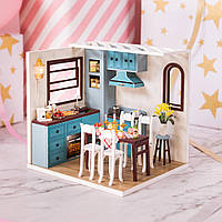 Iiecreate M-011 DIY Jos Кухня Миниатюрная Кукла Мебель для дома Модель Светодиодный Игрушки Подарочные-1TopShop