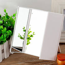 LED Зеркало Mindo для макияжав виде книжечки белое