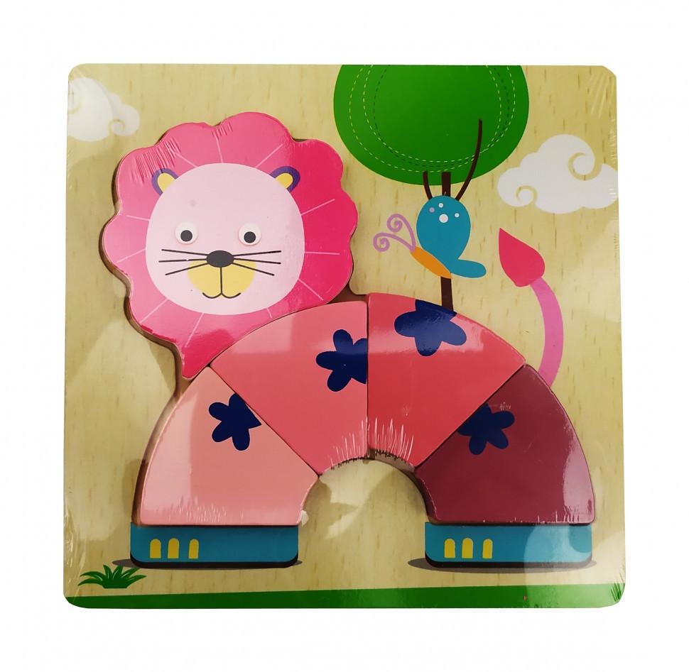 Деревянная игрушка Пазлы MD 0904 (Лев)