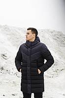 "Мужская зимняя длинная куртка Pobedov ""Zirka"" Anthracite-Black"