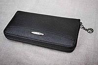 Кожаный кошелек Tailian черный 1-9026