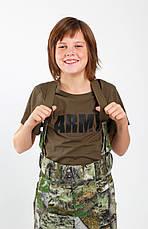Футболка детская MILITARY для мальчиков и девочек ARMY цвет хаки, фото 2