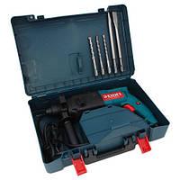 Перфоратор Зенит ЗП-950 : 950 Вт | Плавный пуск | SDS-plus | Кейс + 3 Бура + Пика + Зубило