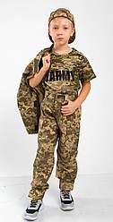 Футболка детская MILITARY для мальчиков и девочек ARMY цвет пиксель