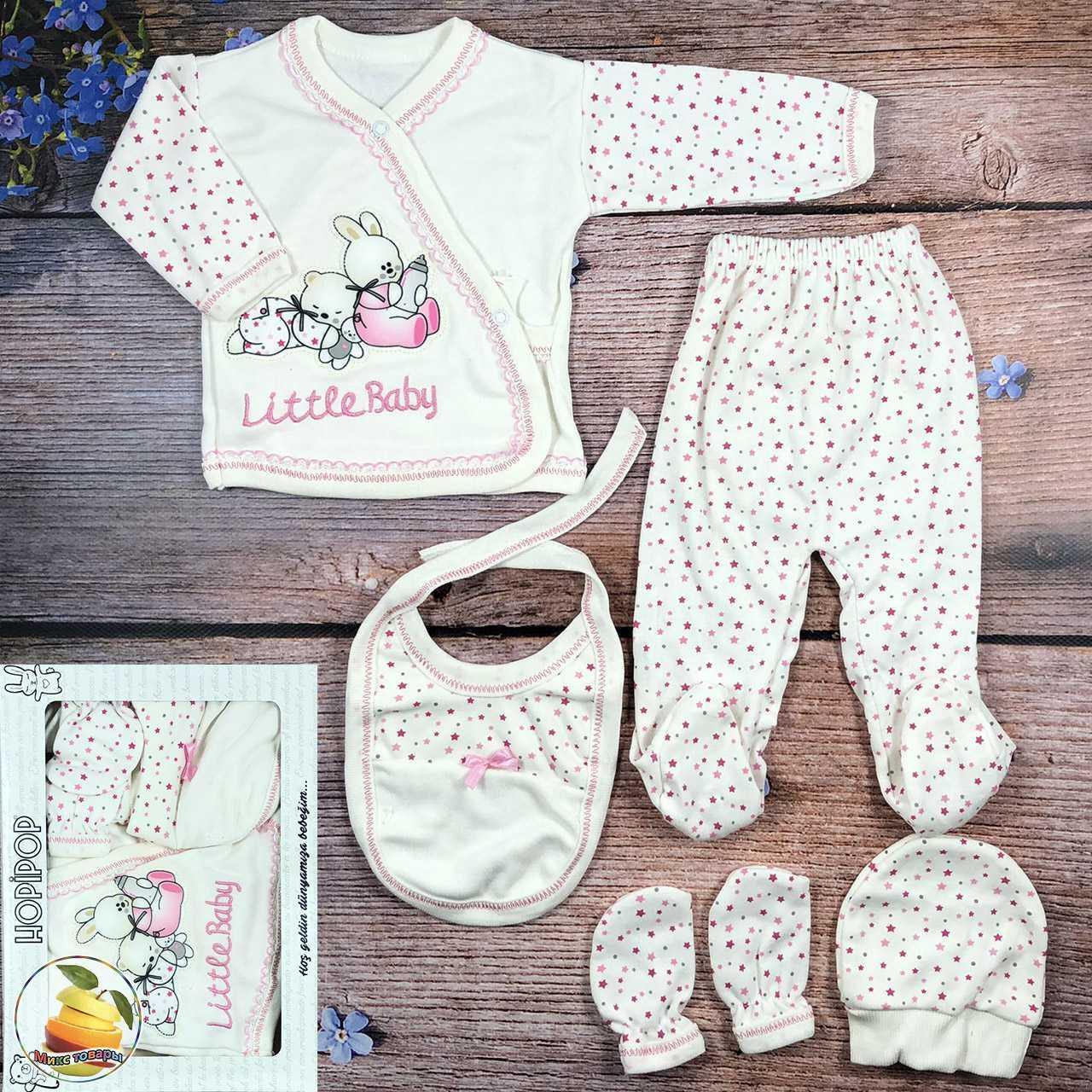 Набор одежды для девочки, выписка из роддома Рост: 56 см Размер: 0- 3 месяцев (9314-4)