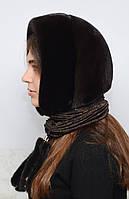 Женский норковый Капюшон из цельной норки, фото 1