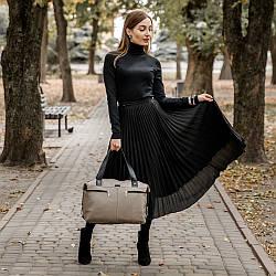 Женская кожаная сумка 43 капучино 01430109-01
