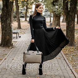 Жіноча шкіряна сумка 43 капучіно 01430109-01