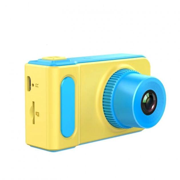 Детский цифровой фотоаппарат Smart Kids Camera Full HD с дисплеем желто-синий