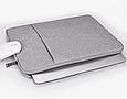 Чехол для Macbook Air/Pro 13,3'' - темно серый, фото 6