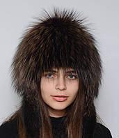 """Стильная женская меховая шапка """"Снопик-ушки"""" (Парик)"""