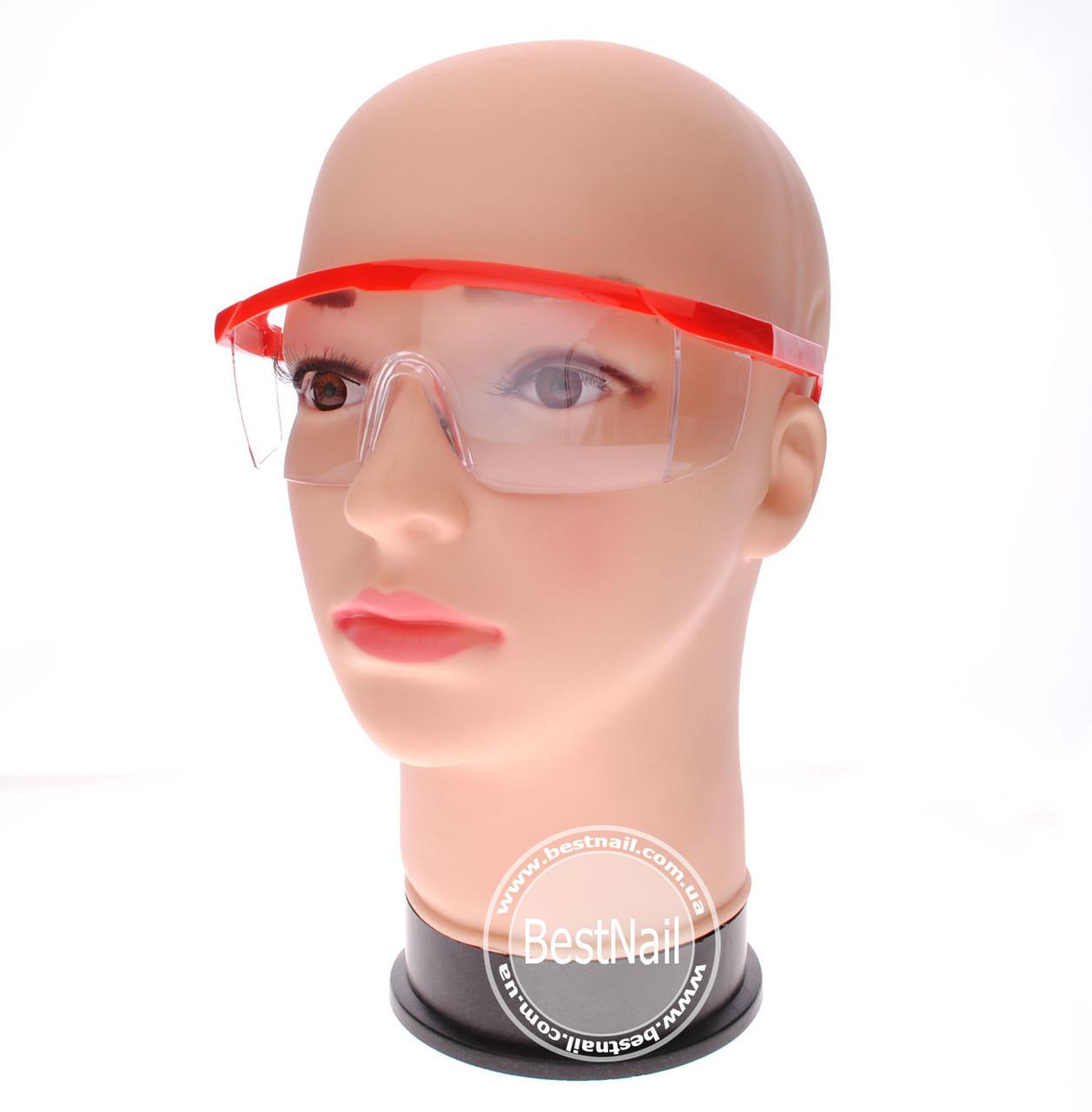 Защитные прозрачные очки для аппаратного маникюра и педикюра