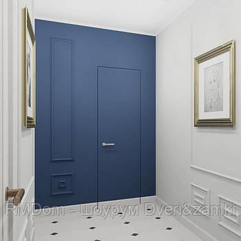 Дверний блок прихованого монтажу з полотном та італійською фурнітурою