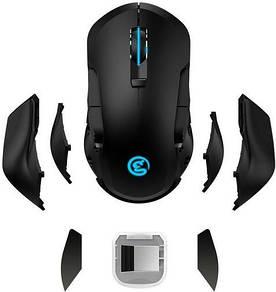 Съемная бесшумная, беспроводная игровая мышь для геймеров Gamesir GM300 Black