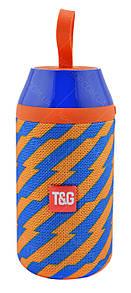 Портативная Bluetooth колонка влагостойкая T&G 104 Синий/Оранжевый