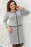 Платье женское демисезонное ангора больших батальных размеров 56-58,60-62 размеров