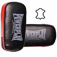 Пади для тайського боксу PowerPlay 3064 Чорно-Червоні Шкіра, пара (143742)