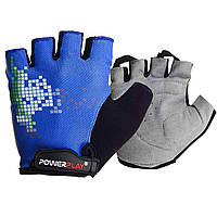 Велорукавички PowerPlay 002 D Сині M - 144218
