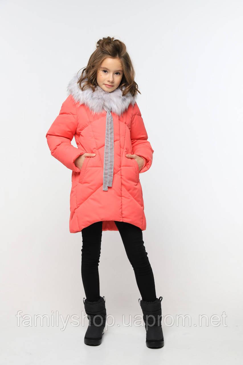 Зимнее теплое пальто  на девочку Офелия нью вери (Nui Very)