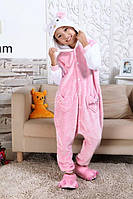 Пижама Кигуруми Hello Kitty для детей от 120 см и взрослых, женская пижама из качественного велсофта