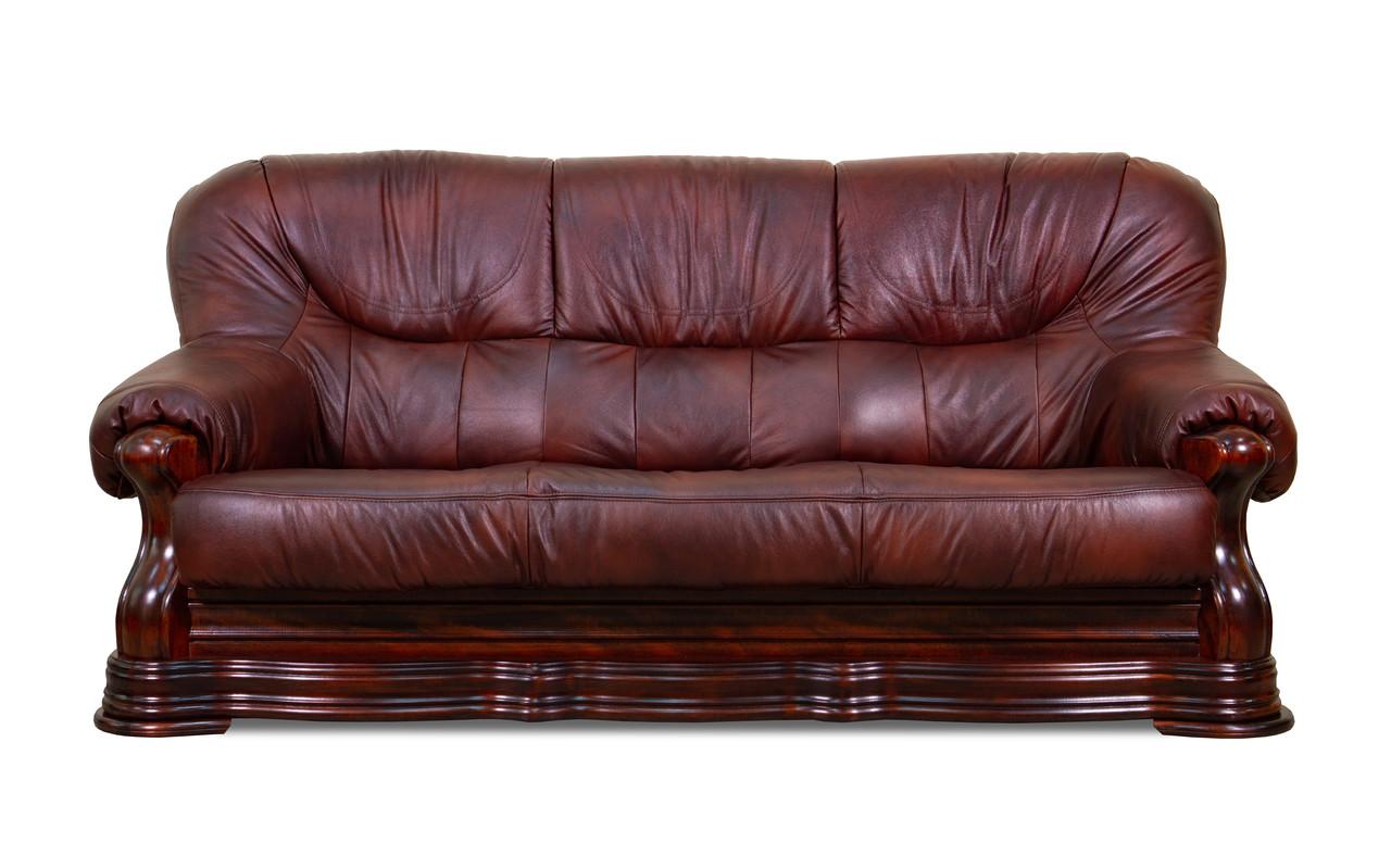 Шкіряний диван Senator, м'який диван, меблі з шкіри, диван