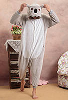Пижама Кигуруми Коала для детей от 145 см и взрослых, женская и мужская из качественного велсофта