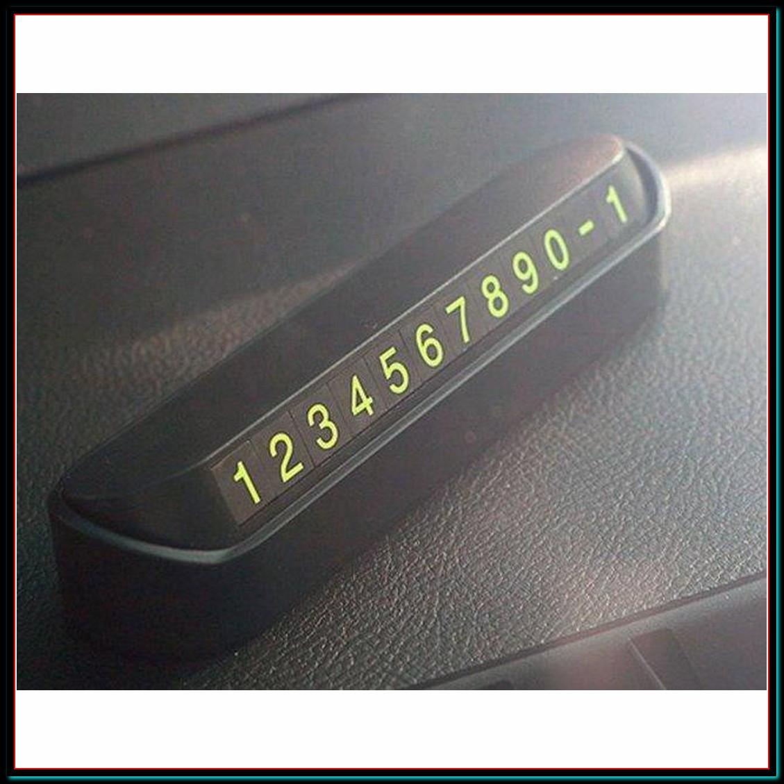 Табличка с номером телефона под лобовое стекло автомобиля