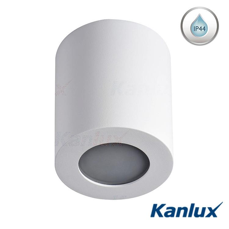 Вологостійкий стельовий світильник Kanlux SANI DSO-W GU10 білий, IP44