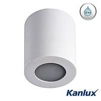 Вологостійкий стельовий світильник Kanlux SANI DSO-W GU10 білий, IP44, фото 1