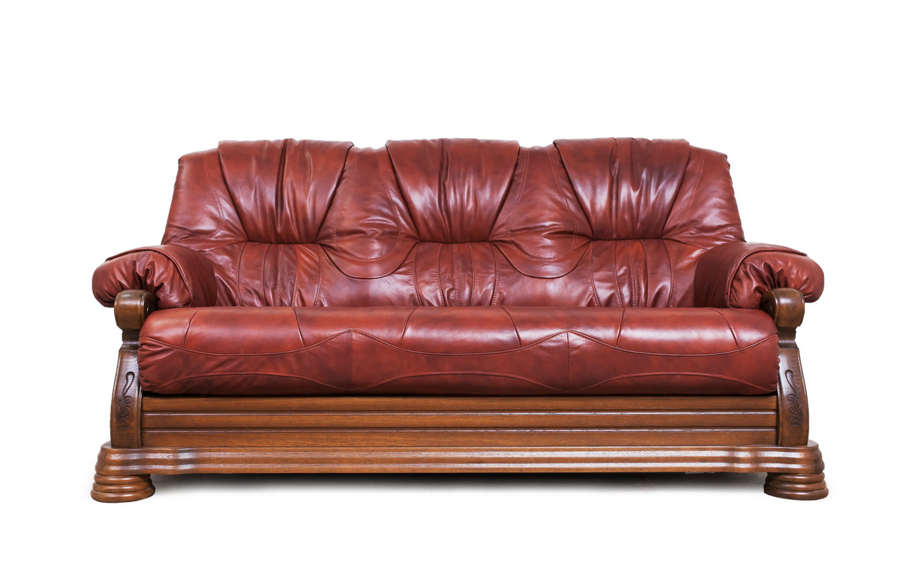 """Класичний шкіряний диван """"Kardinal 5030"""" (Віконт 5030)"""
