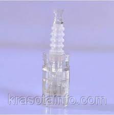 Насадки для дермапена 36 игл, катриджи стерильные для дермаштампа на защелке + концентрат