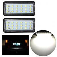 2x без ошибок LED СМД фонарь освещения номерного знака для автомобиля Toyota Land Cruiser, Lexus GX LX470-1TopShop