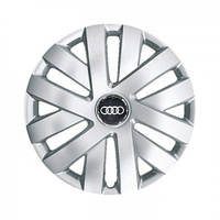 "Колпаки для колес 16"" c логотипом автомобиля 4 шт (SKS 409) Audi"