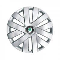 """Колпаки для колес 16"""" c логотипом автомобиля 4 шт (SKS 409) Skoda"""
