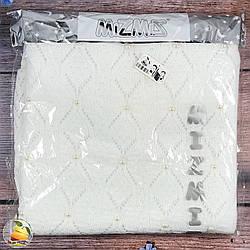 Плед с бусинками, белого цвета и прослойкой синтепона Размер: 80х 100 см (9325-2)
