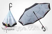 Зонт наоборот - полевые цветы  Код 10-1734