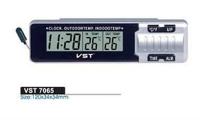 Автомобильные часы с термометром VST-7065