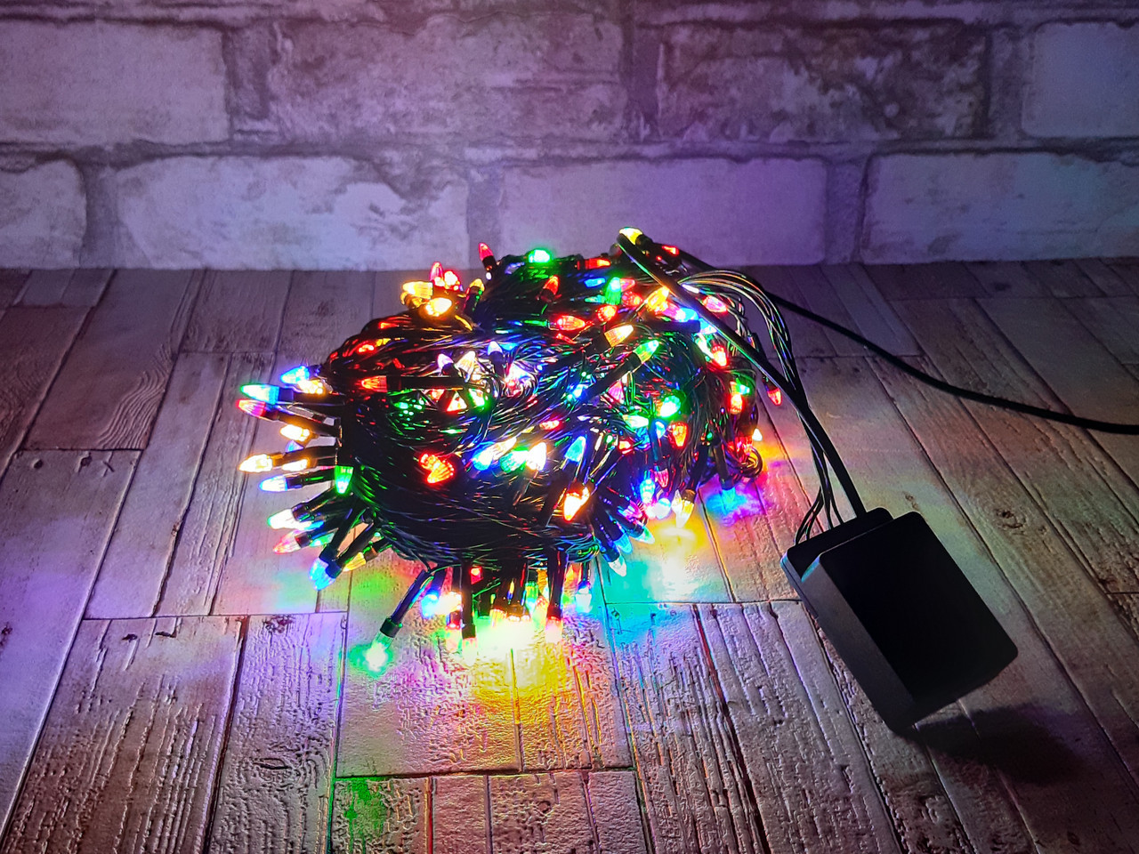 Новогодняя гирлянда светодиодная мультиколор LED 300