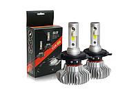 Комплект (2шт) светодиодных автомобильных ламп S9 H7 3800 Lm
